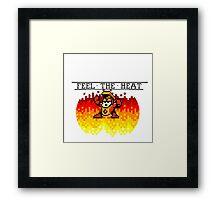 Feel The Heat Framed Print