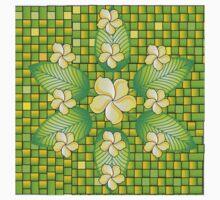 Indonesian Flowers One Piece - Short Sleeve