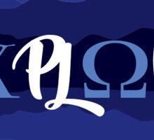 Explore Chi Omega in Blue Ridge Sticker