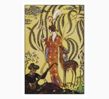 GEORGE BARBIER: Vintage Painting Print One Piece - Short Sleeve