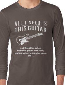 Love Guitar T-shirt Long Sleeve T-Shirt