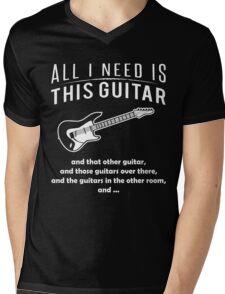 Love Guitar T-shirt Mens V-Neck T-Shirt