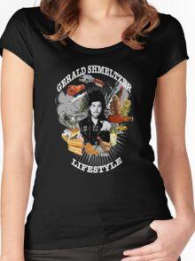 Gerald Shmeltzer Lifestyle ( dark shirt version ) Women's Fitted Scoop T-Shirt