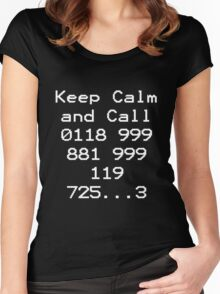 Emergency Services Number Women's Fitted Scoop T-Shirt