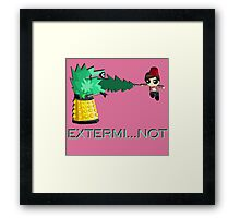 Extermi-not Powerpuff Eleventh Doctor Framed Print