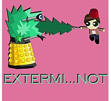 Extermi-not Powerpuff Eleventh Doctor Photographic Print