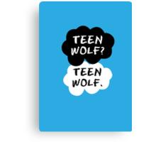 Teen Wolf - TFIOS  Canvas Print