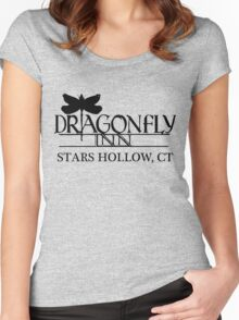 Dragonfly inn Black Women's Fitted Scoop T-Shirt