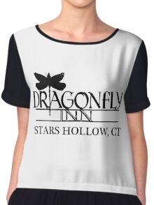 Dragonfly inn Black Chiffon Top