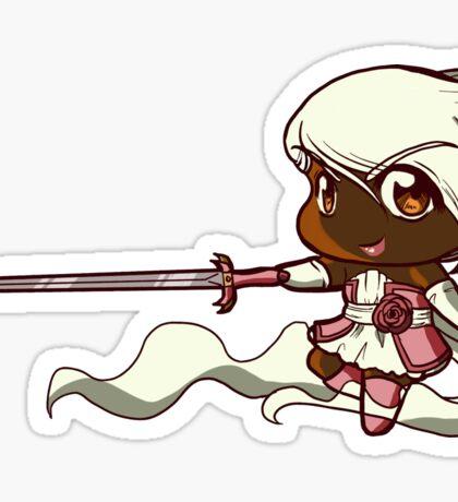 Chibi Electric Rose Sticker