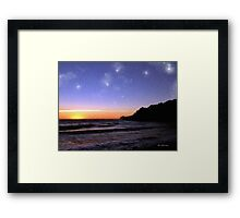 Star-Spangled Sunset Framed Print