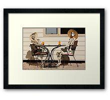 Afternoon tea shared between friends Framed Print
