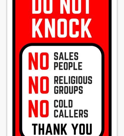 Do Not Knock Sticker