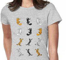 Silhouette Kitties Womens Fitted T-Shirt