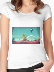 No Mans Sky - HD Large Women's Fitted Scoop T-Shirt