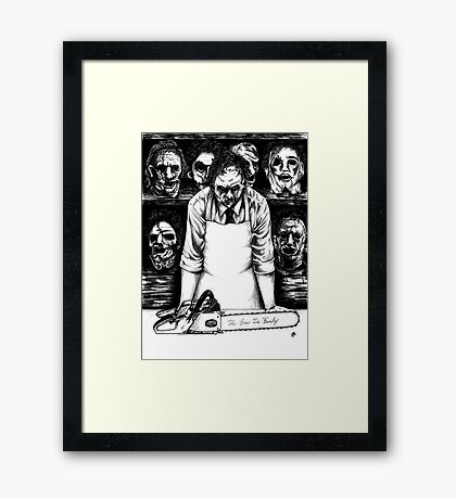 Leatherface The Saw Is Family Framed Print