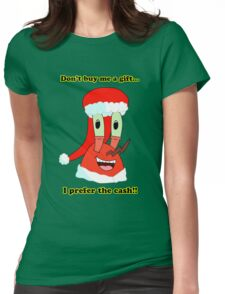Mr. Krabs Christmas LIMITED TIME ONLY Womens Fitted T-Shirt
