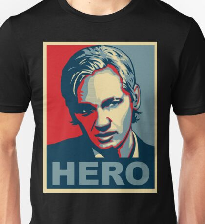 Assange 'HERO' poster - Ultra HD Unisex T-Shirt