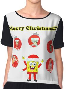 SpongeBob and friends Christmas LIMITED TIME ONLY Chiffon Top