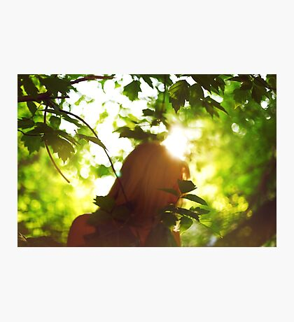Abstract background with woman silhouette Photographic Print
