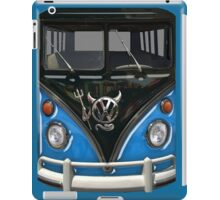 Blue Camper Van With Devil Emblem iPad Case/Skin
