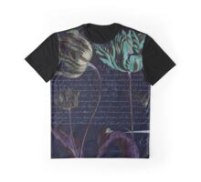 Black Tulips with Calligraphy  Graphic T-Shirt