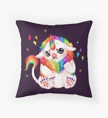 Rainbow Troll  Throw Pillow