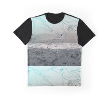 Sand and Sea and Little Birds Graphic T-Shirt