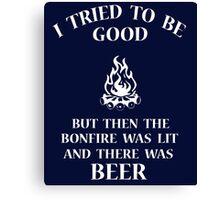 Bonfire & Beer Canvas Print