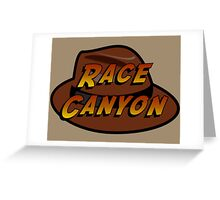 Race Canyon Greeting Card