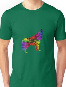 Colourful Wolf Howling For Animal Lovers Unisex T-Shirt