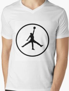 3 Legged Jordan Mens V-Neck T-Shirt
