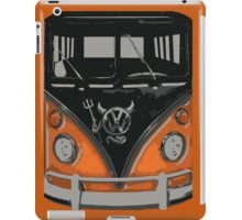 Orange Camper Van with Devil Emblem Art iPad Case/Skin