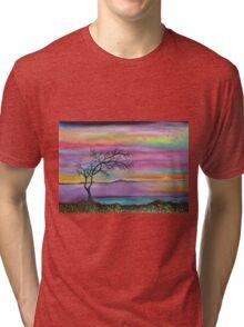Serene Sunset Tri-blend T-Shirt