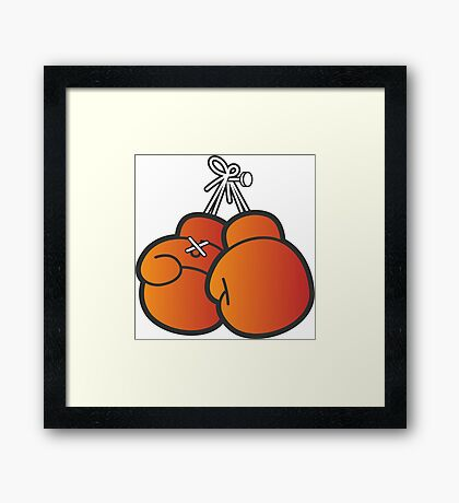 Boxing gloves Framed Print