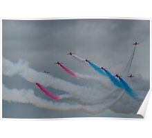 Through the gap, RAF Red Arrows Poster
