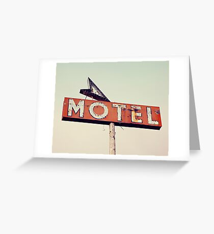 Vacancy - Route 66 Motel Greeting Card