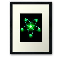 Atomic Orbit (Green) Framed Print