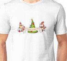 Merry Christmas with Monkeys Unisex T-Shirt