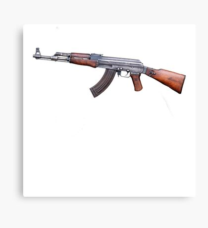 AK 47 Avtomat Kalashnikov Machine Gun War Canvas Print