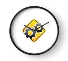Warning Sign: gears Clock