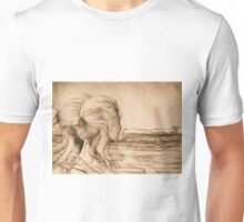 Lost In The Wind, 2016, 50-70 cm, graphite crayon on paper Unisex T-Shirt