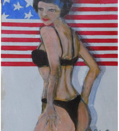 Patriotic babe USA Sticker