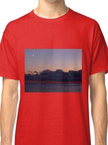 Moon and Venus Over Water Classic T-Shirt