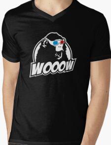 Wooow - 3D amazed Ape Mens V-Neck T-Shirt