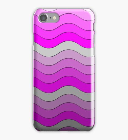 Iskybibblle Boutique Patterns   Pink and Grey  iPhone Case/Skin
