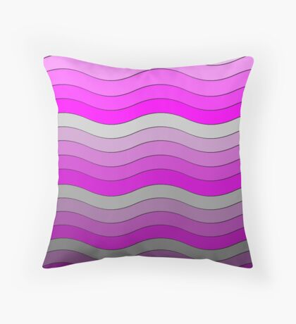 Iskybibblle Boutique Patterns   Pink and Grey  Throw Pillow