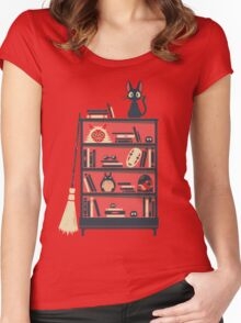 Ghibli shelf Women's Fitted Scoop T-Shirt