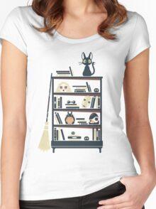 Ghibli shelf Women's Fitted Scoop T-Shirt