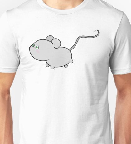 Cute grey mouse running Unisex T-Shirt